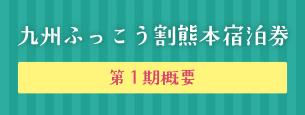 九州ふっこう割 熊本宿泊券 第一期概要