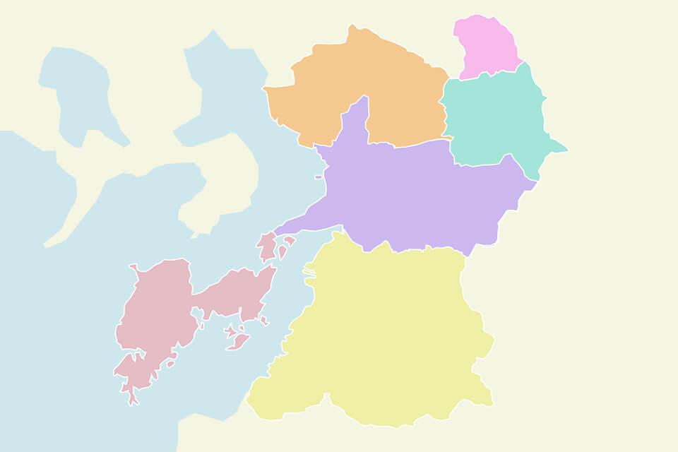 熊本県エリア地図